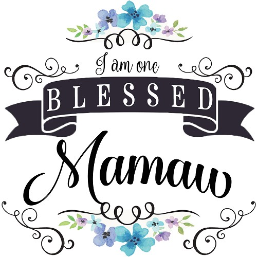 """I am One Blessed Mamaw,"" Home Decor Gift Tile Design"